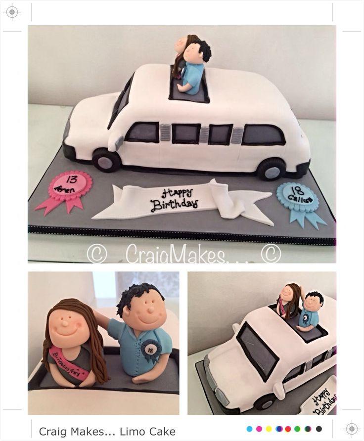 A limo shaped cake