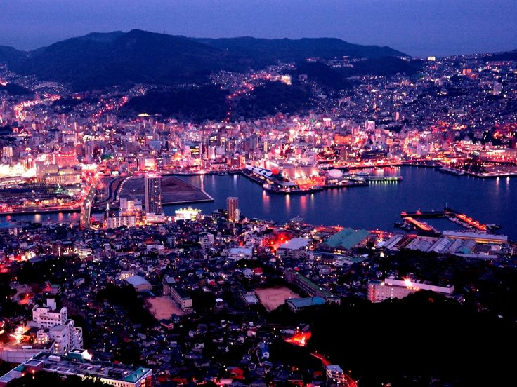 Night View from Inasa-yama / Nagasaki. The night view from Inasa-yama (Mt. Inasa) is the best spot to enjoy Japan's night view. It's has also been selected as one of the world's top 3 night views. You can go to Mt. Inasa using the Nagasaki cable car.