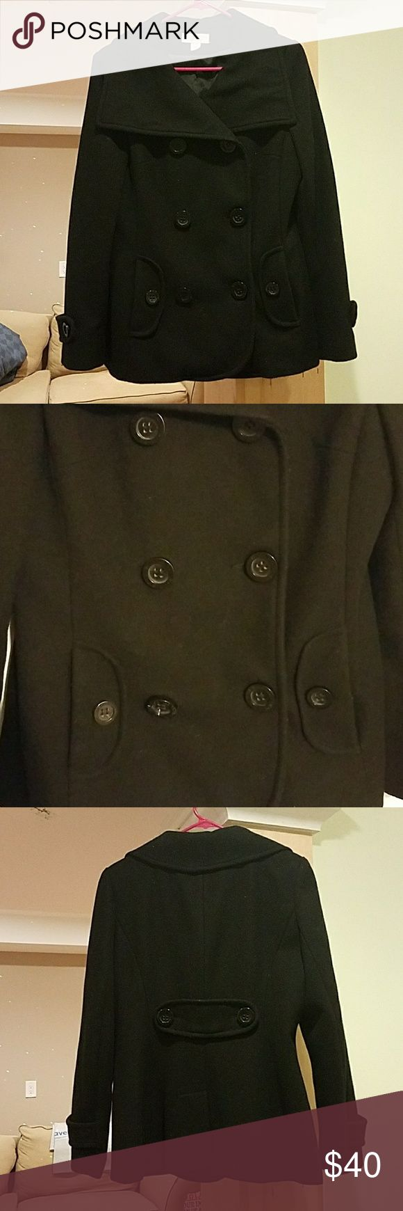 Barely Worn J-LO Wool Coat!!! Super Cute and super warm J-LO Wool coat. Only worn handful of times! I live in the deep south and don't have much use for a coat like this. Jennifer Lopez Jackets & Coats Pea Coats