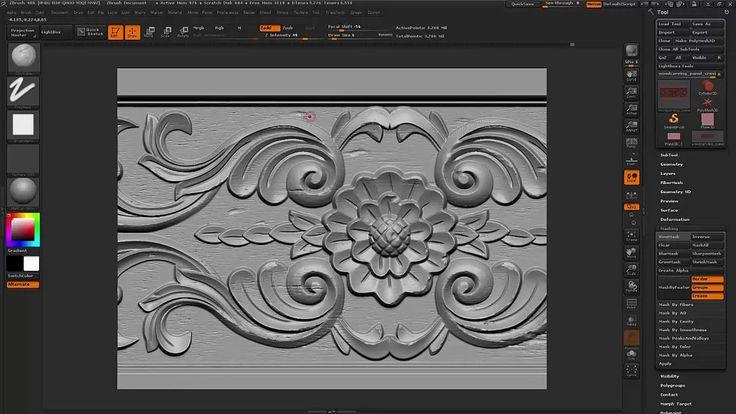 Maya/Zbrush Wood carving texture tutorial - Part 1 on Vimeo