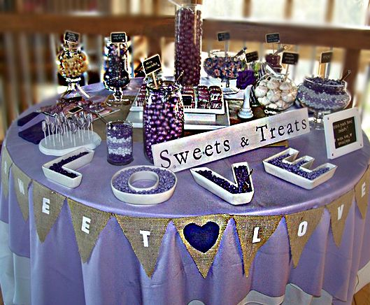 Purple and Gold Table Decorations | Purple Valentine's Day Wedding Flowers ~ Erica's Inspiration Board