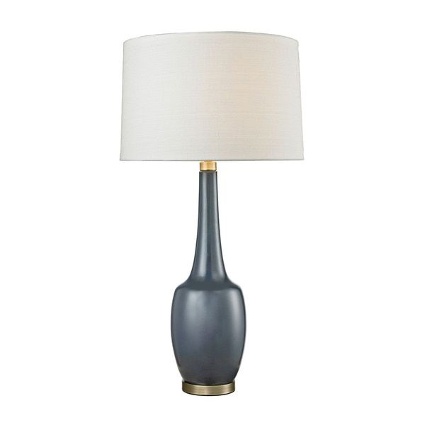 Navy Blue Table Lamps: Dimond Modern Vase Ceramic Navy Blue Table Lamp,Lighting