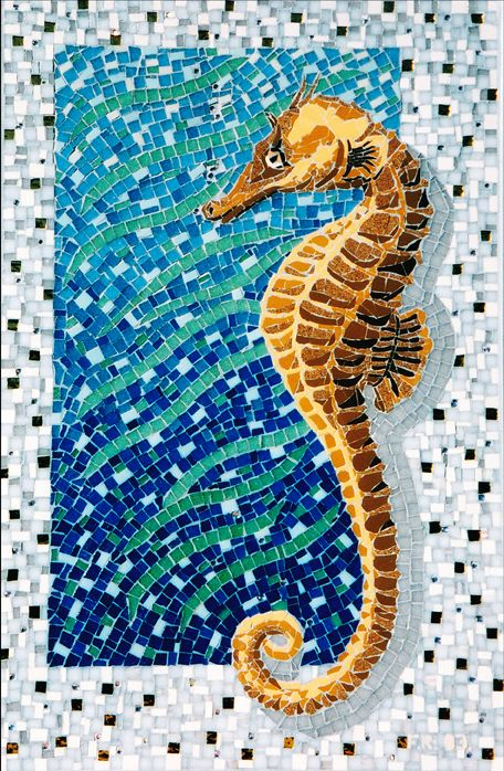 Seahorse - mosaic by Frances Russo
