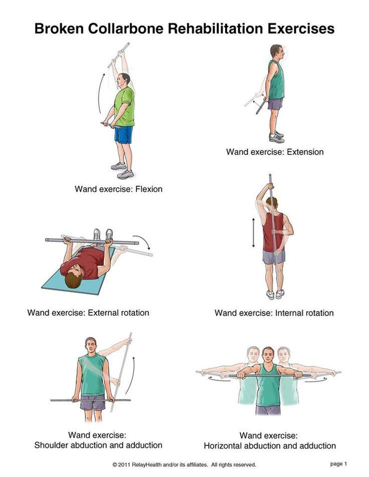 Broken collarbone rehabilitation exercises ...