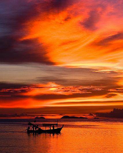 Koh Samui sunset // #orange