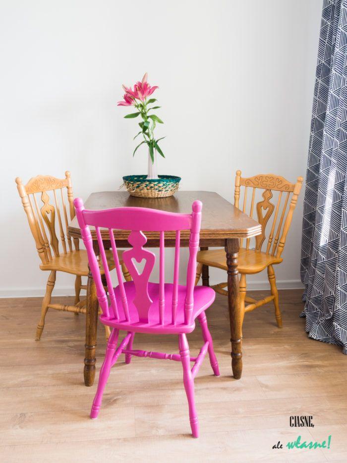 Stół i krzesła w stylu vintage w salonie.   Ciasne, ale własne! Blog o wnętrzach