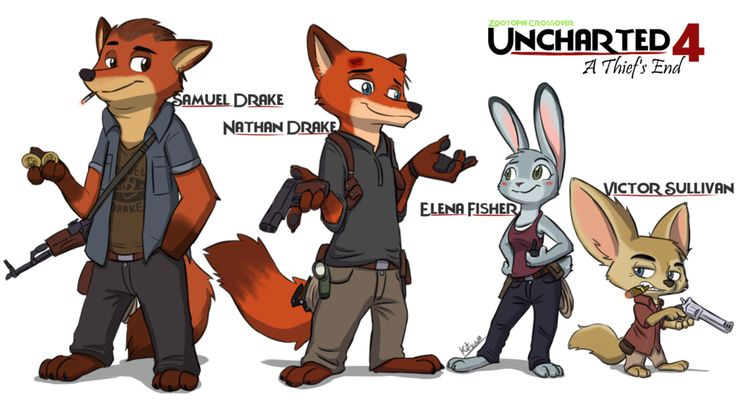 Zootopia #3 Uncharted 4 - A Thief's End by xshot01.deviantart.com on @DeviantArt