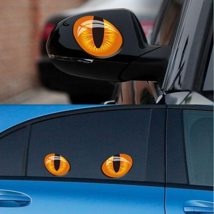 Best DealeXtreme Car Images On Pinterest Car Accessories - Car sticker designripped torn metal design with evil eye monster motif external