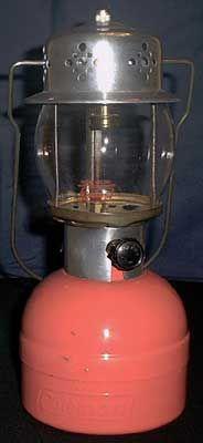 Matching pink Coleman lantern.