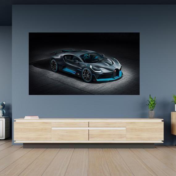 Bugatti Veyron Sport Super Auto Poster Selbstklebende Wandtattoo Aufkleber Kunst Wandbild Super Sports Cars Bugatti Veyron Sport Bugatti Veyron Bugatti