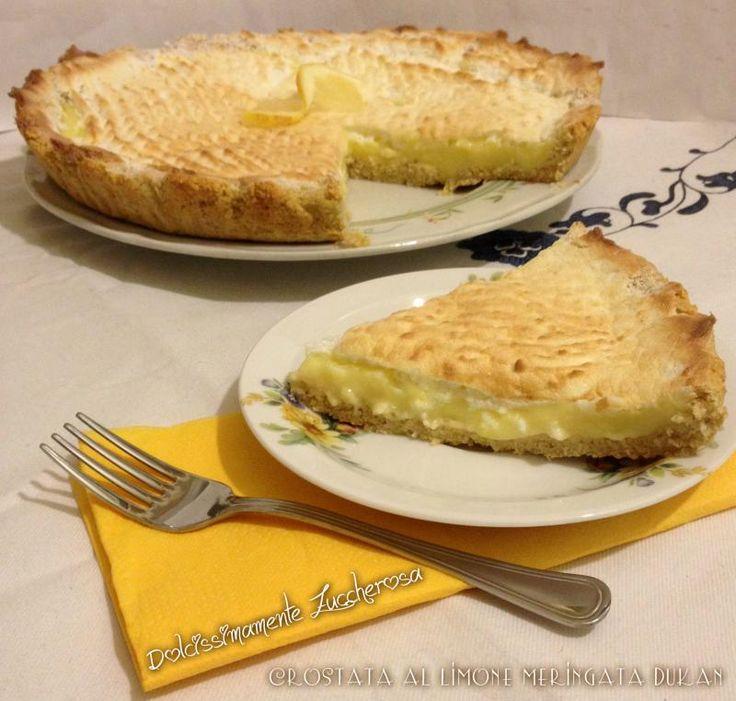 Crostata al limone meringata Dukan ricetta light