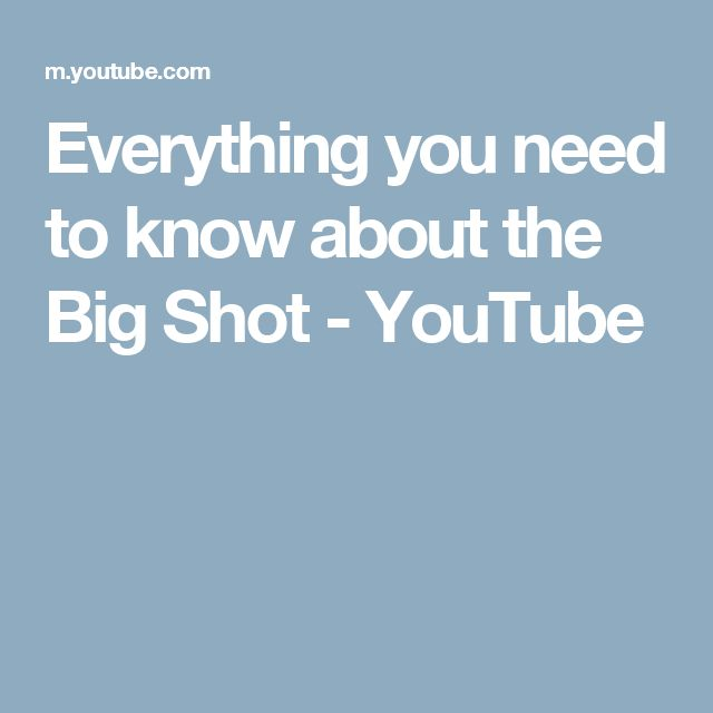 Everything you need to know about the Big Shot - YouTube