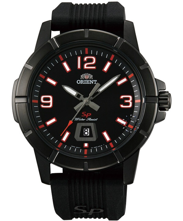 ORIENT Sport Black Rubber Strap  Τιμή: 103€  http://www.oroloi.gr/product_info.php?products_id=32050