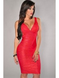 Vestido celebrity color rojo