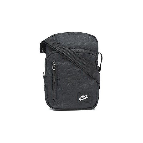 Nike Core Small Items Bag II ($27) ❤ liked on Polyvore featuring bags, handbags, shoulder bags, nike, nike shoulder bag, black handbags, black purse and nike purse