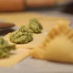 """Try this """"Chicken and Spinach Ravioli"""" recipe,your family & friend's will like it. by www.Allrecipes.com"""