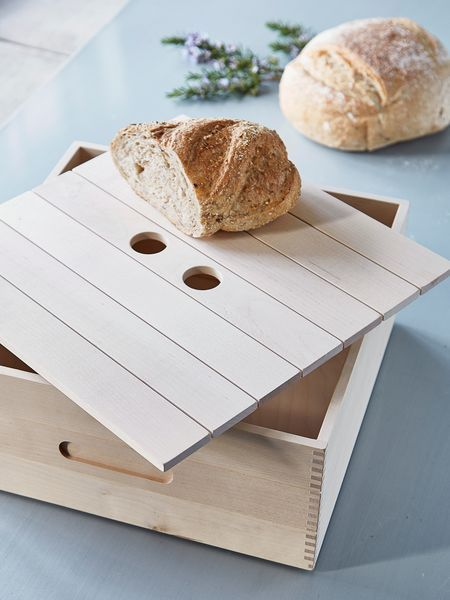 Birch Wood Bread Box