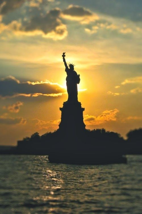 "(Open rp w/Cecily) I go on the Staten Island ferry, and I see a beautiful view of the Statue of Liberty. I smile as I think about my father whenever we past by the statue. I sigh and listen to the water hitting the ferry, and the tourist talking. I hear little kids gasping in awe when the see the statue. 'Mommy look it's Lady Liberty!' I hear one of them say. ""Beautiful view isn't it?"" You ask me. I look up at you and smile. ""Yeah, it is."""
