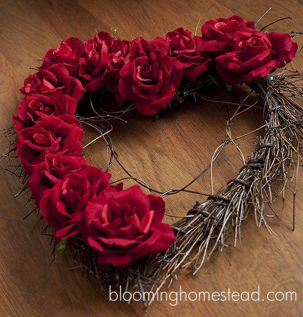 Blooming Homestead: Valentine Wreath DIY