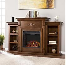 Emerson Electric Fireplace - Tobacco
