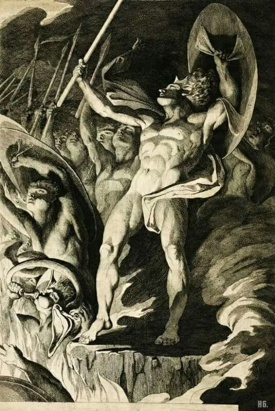 Satan and his Legions Hurling Defiance toward the Vault of Heaven - James Barry, 1808.