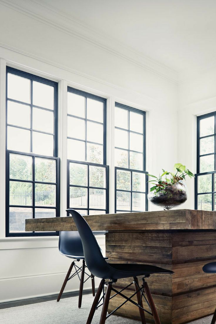 Wood window interior finishes don't have to be boring or standard. They actually create an opportunity to make a statement. One the biggest trends in window design right now is black interiors. The wood window black interior finish brings refinement to any room. Windows don't have to be in the background. With this type of finish, they'll become a focal point.