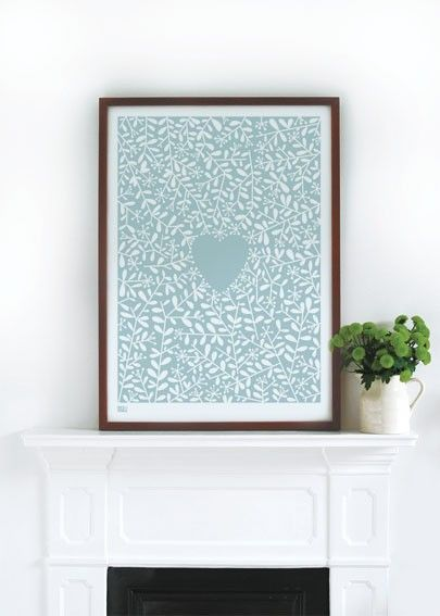 Love Grows decorative screen print by boldandnoble on Etsy