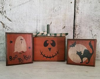 Primitive Fall Decor, Halloween Decor, Jack O' Lantern, Pumpkin, Fall Decoration, Country Fall Decor, Rustic Fall, Primitive Halloween Decor