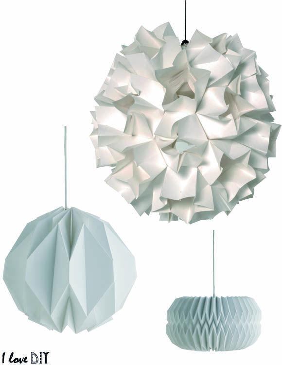 DIY INSPIRATION : Les suspensions Origami Habitat | Origami Lighting | I love DIY