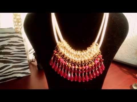 Como hacer Bijouterie - Collar Egipcio - Monica de Grau - YouTube