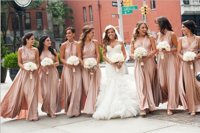 Bridesmaids wear twobirds in New York City