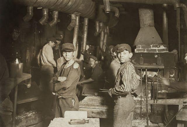 Εργάτες παιδιά σε υαλουργεία στην Ιντιάνα (1908)