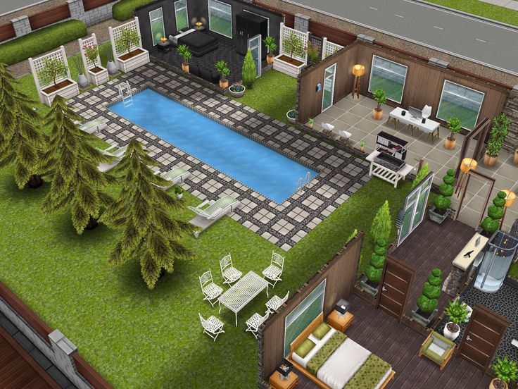 94 best images about sims freeplay house ideas on for Pool design sims 4