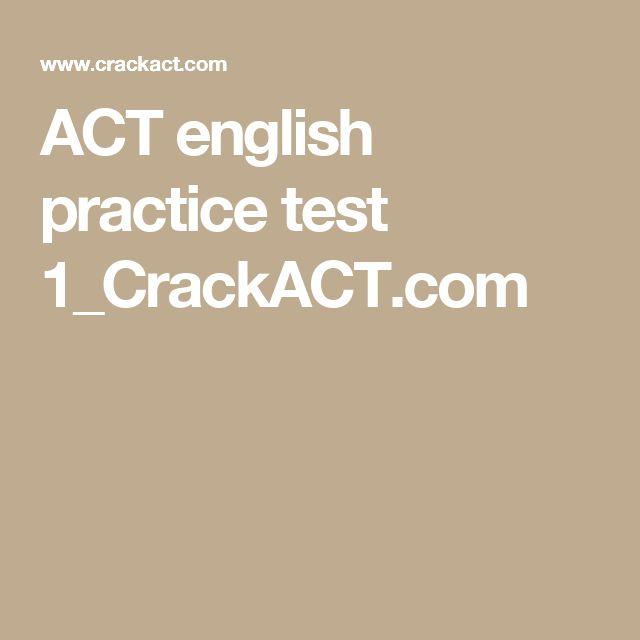ACT english practice test 1_CrackACT.com