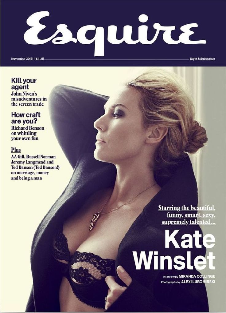 Kate Winslet in Esquire UK Magazine, November 2015 : Global Celebrtities (F) FunFunky.com