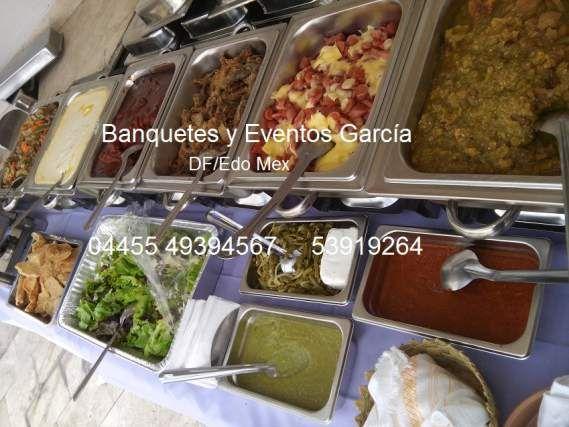 Taquizas económicas. Banquetes a domicilio. RIQUISIMAS !!! (ciudad de mexico.)