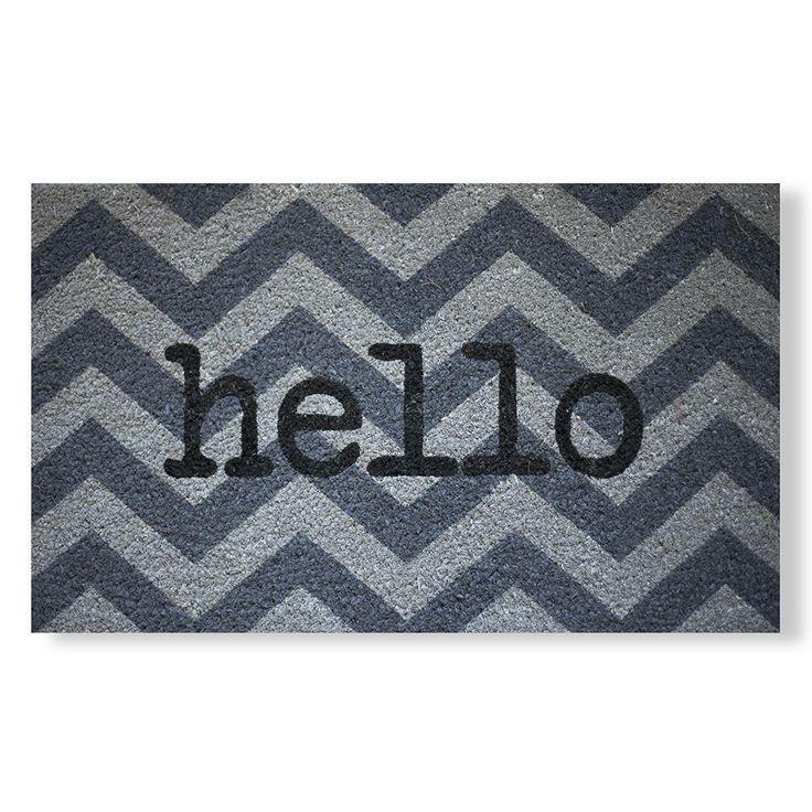 Hello Typewriter Coir Doormat
