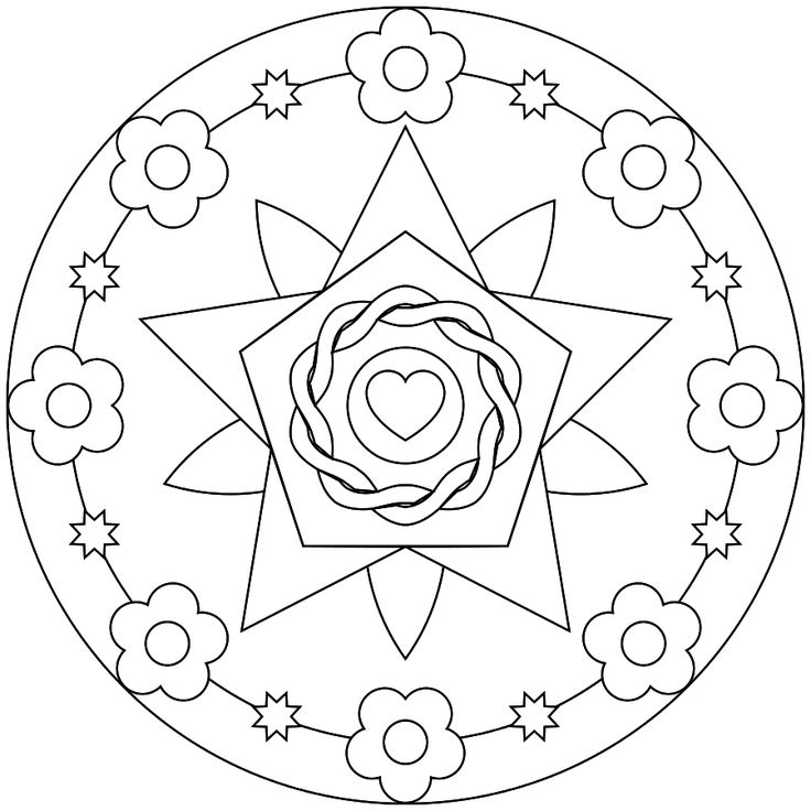 Printable Mandala,  Coloring pages for adults