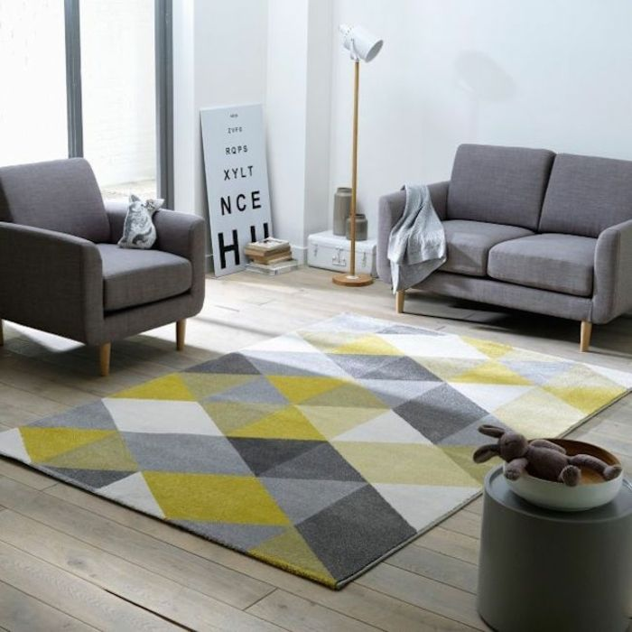 The 25+ Best Teppich Gelb Ideas On Pinterest | Gelbe Küchenwände ... Teppich Wohnzimmer Grau