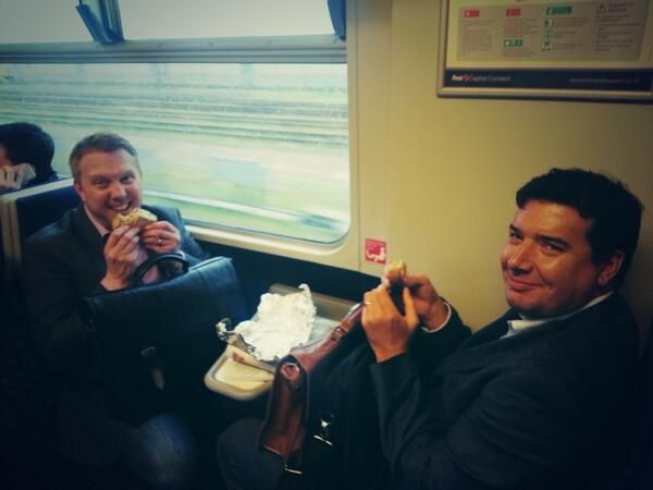 Post pitch sarnies ans smiles all round.