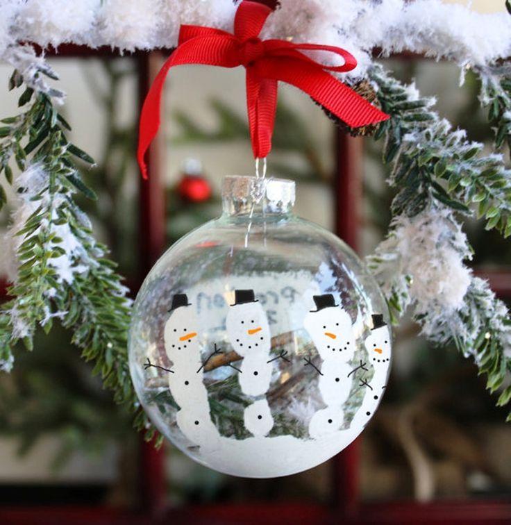 Snowman Handprint Ornament Craft Kit