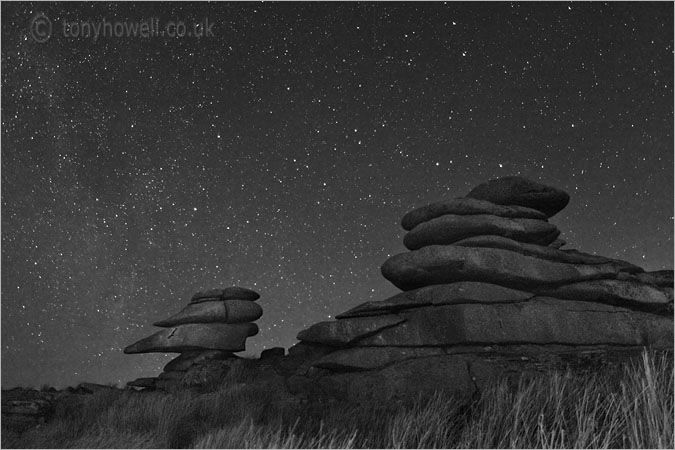 Tony Howell - Cheesewrings, Night - Bodmin Moor, Cornwall