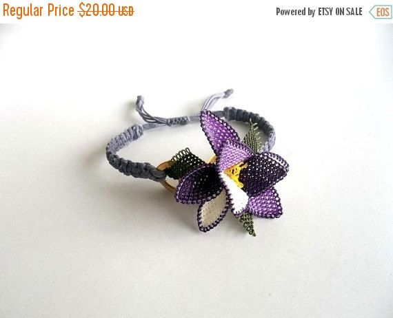 Mothers Day ON SALE Jewelry, Needle Lace, Bracelet, Summer Fashions, Christmas Gift, Lilac, Macrame Bracelet, Fashionable, Adjustable Bracel