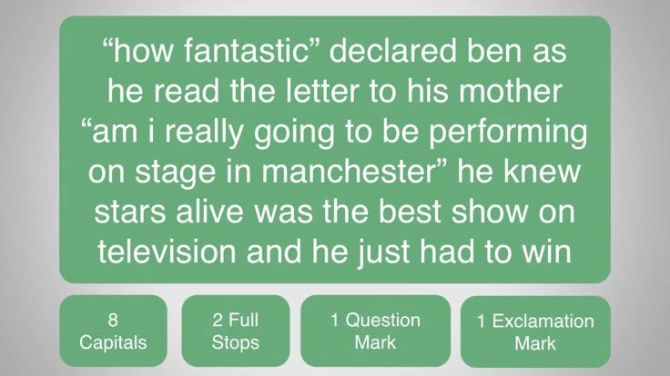 In this punctuation review lesson you will apply your understanding of capital letters, full stops, question marks and exclamation marks to find the missing punctuation in a longer passage of text.