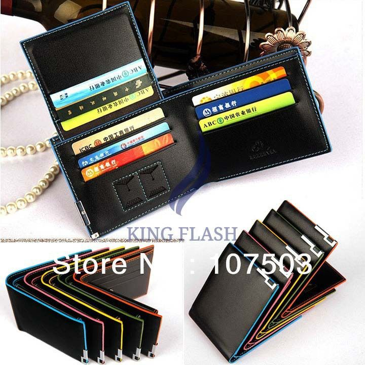 2014 New arrival first layer leather men's short wallet Driver's license card holder purse 5 colors 19929