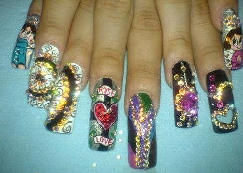 Sinaloa Nails Pictures | Nails estilo sinaloa y mas - youtube, 11:29 nail contest from my ...
