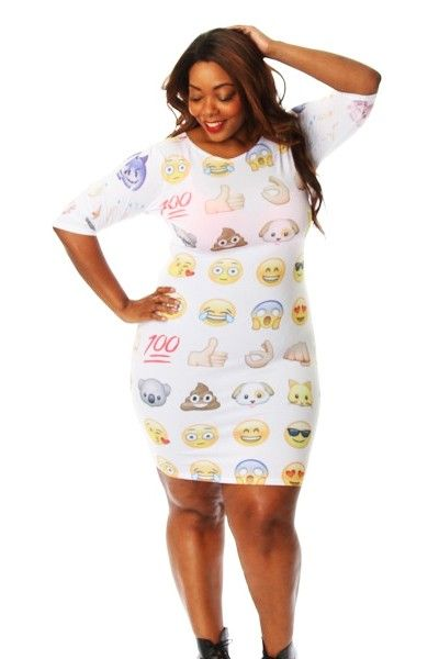Plus size emoji dress