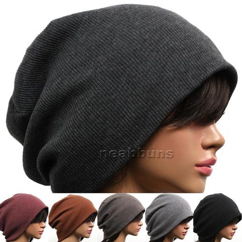 Unisex Chic Baggy Oversized Beanie Slouchy Cap Hat