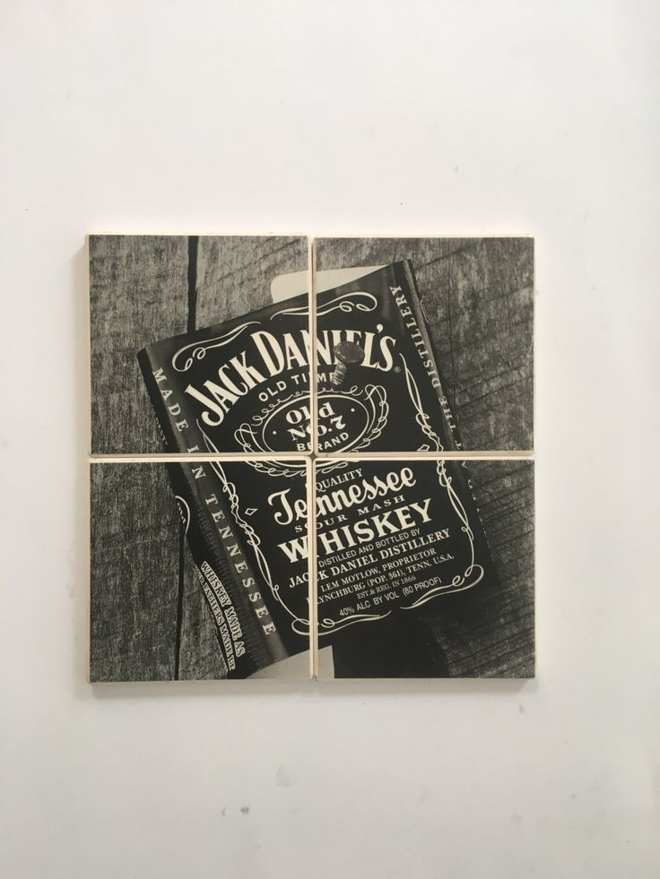 JACK DANIEL'S Tennessee Sour Mash Whiskey Alcohol Ad Advertisement on Set of 4 Ceramic Heat Resistant Drink Beverage Coasters + Felt Backing by UpcyclingIt on Etsy