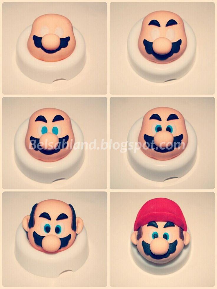 Mi primer modelado en fondant para el blog: el paso a paso de Mario.     Intentaré ser lo más clara posible y simplificar al máximo...